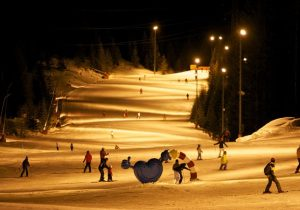night skiing - Hotel Hutter