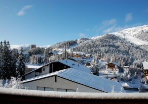 View to the slopes - hotel hutter