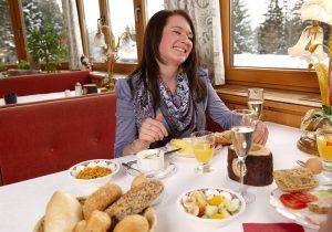 Frühstück im Hotel Hutter