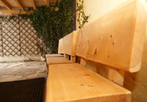 Enjoy and relax at our wooden seat