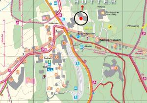 map - hotel Hutter  at Katschberg