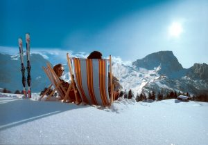 Liegestuhl Winter - Hotel Hutter