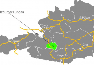 map from Austria which showes Lungau