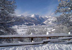 Winteraussicht-Lungau-Hotel Hutter