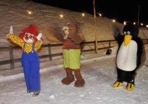 Torchlight hike with mascots