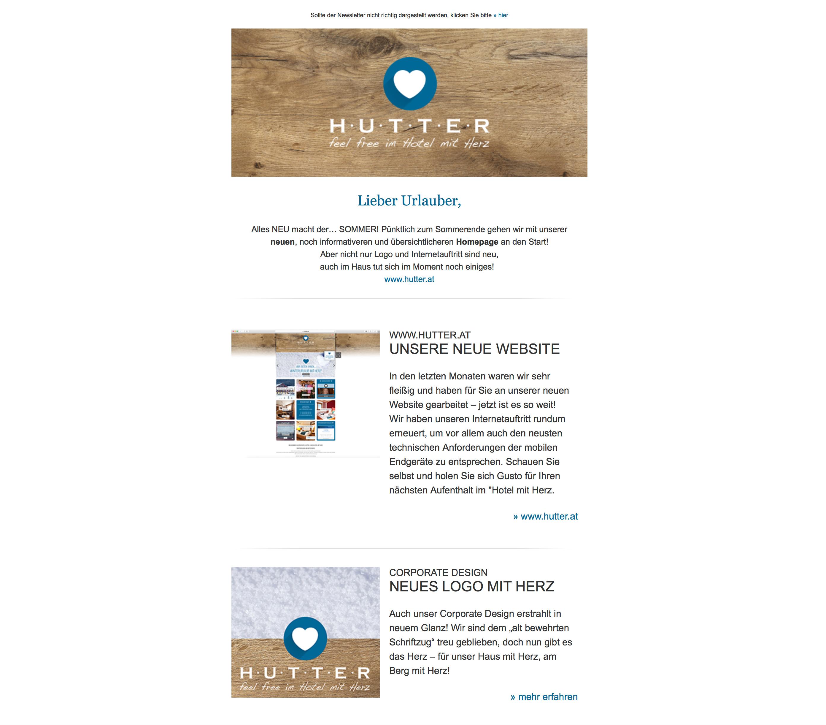 anmeldung zum newsletter service 4 hotel hutter katschberg. Black Bedroom Furniture Sets. Home Design Ideas