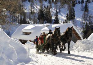 Pferdeschlittenfahrt - Hotel Hutter