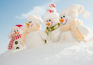 Schneemänner - Familienurlaub Katschberg Hotel - Hotel Hutter mit Herz