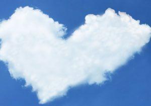 Herz aus Wolken